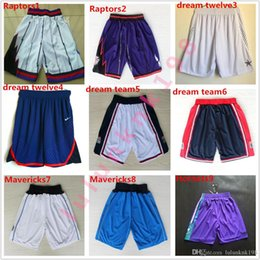 Cheap Team Basketball Shorts Summer Loose Polyester Shorts de sport Shorts Poches Running Shorts pour hommes Avec logo Basketball Pant