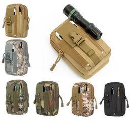 Táctico militar al aire libre Molle cintura bolsa de utilidad bolsa de teléfono caso hombres de deporte de la cintura del paquete de bolsos camping caza de bolsas