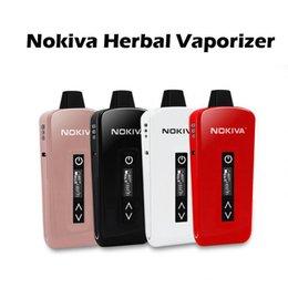 Wholesale Plus nouveau vaporisateur à base de plantes Kit Airis Nokiva kit de céramique Donut E Cigarette Kits avec écran tactile de contrôle de température mAh batterie Fasion Ecigs