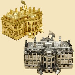 Wholesale Piececool The White House P010 G P010 S Diy Toy 3d Laser Cut Models Puzzle 3d Metal Jigsaws Kits Toys For Kid