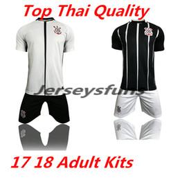 brazil corinthian 2017 2018 paulista adult kits soccer jerseys 17 18 black suit