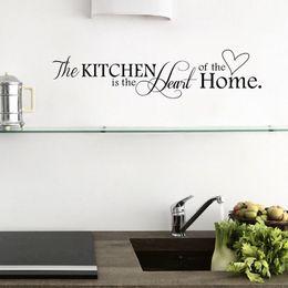 Wholesale Kitchen Home House Ornamentation Wallpapers Love Quote Wall Sticker Vinyl Art Words Decals Modern Decor Discount Kitchen Metal Wall Art Decor