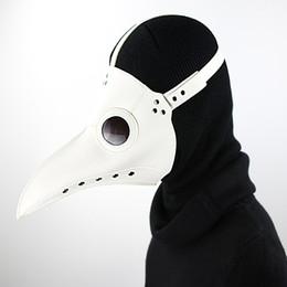 Wholesale Blanco PU cuero Steampunk vapor punk gótico pájaro pico máscara gafas plaga Doctor Cosplay Hood Hallowee juego de rol Juguetes sexuales