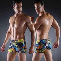Mãos de ouro de alta qualidade Homens Trunks natação Swim Briefs Fitness Swimwear Homens Swimwear Vintage Allover Imprimir Sunga Swimsuits Frete Grátis