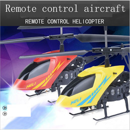 New Version Mini RC Helicopter 3.7V Radio Remote Control Aircraft 3D 2.5 Channel Drone Copter With Gyro and Lights from big remotes manufacturers