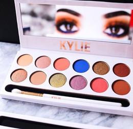 Paleta real del melocotón de la gama de colores del melocotón de KYLIE Paleta real del melocotón de los cosméticos de Kylhow Cosmetics Kylie 12 colores DHL