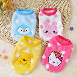 online shopping Cartoon Cute Bee Snail Love Angle Small Dog Clothes Soft Winter Warm Cup Puppy Dog Vest New Born Puppy Clothing