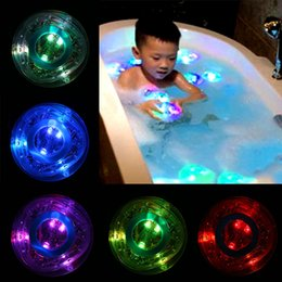 Wholesale-Baby Kids Bath Bathtime Bathing Bath Tub Funny Multi Color Changing LED RGB Light Lamp Toytub-Light from baby changing bath manufacturers