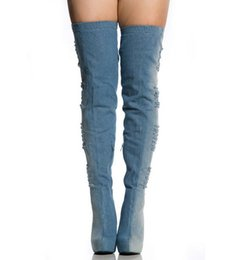 Discount Blue Jean High Heels | 2017 Blue Jean High Heels on Sale ...