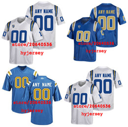 Cheap Custom UCLA BRUINS College jersey Mens Women Youth Kids Personalized  Any number of any name Stitched White Blue Football jerseys cheap cheap  football ... b7380c4503ca3