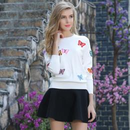 2017 Europa Outono Outono New Brand Ladies Knitted Sweater Dois-Piece Terno Saia Big Yards Borboleta S-3XL Quatro Cor Viscose Frete Grátis
