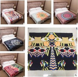 online shopping Indian Mandala Tapestry Polyester Wall Hanging Boho Printed Beach Towel Yoga Mat Table Cloth Bedding Outlet Home Decoration Top quality
