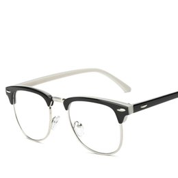 wholesale 2016 summer clear lens glasses metal half rim frame glasses retro points women reading glasses magnification wholesale f15008