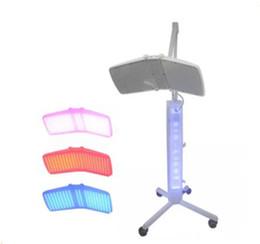 De calidad superior de pie profesional Profesional llevó pdt bio-luz de la terapia de la máquina Luz roja + luz azul + luz infrarroja terapia LLFA