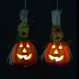 2017 Halloween Haunted House Decorations Wholesale Lighting Pumbkin Halloween Party Decoration Haunted House Prop Indoor