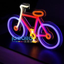Discount Cool Neon Signs #0: cheap personalized bike fluorescent cool