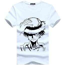 Wholesale Hommes Tops Tee Coton Hommes T shirt Manches courtes T shirt à manches longues New Arrival Print One Piece Luffy T Shirts
