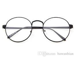 korean glasses frame retro full rim gold eyeglass frame vintage spectacles round computer glasses unisex no degrees discount vintage gold frame glasses