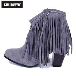 Heel Suede Fringe Boots Online   Suede Fringe High Heel Boots for Sale