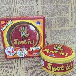 Spot It Game Jeux de cartes pour fêtes en famille Funny Family Cards Jeux Jeux de cartes populaires Funny Board Game Trading Table Jeux de cartes d'échecs F141