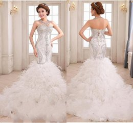 Discount Feathered Mermaid Wedding Dresses | 2017 Feathered ...