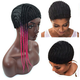 Crochet Braids On A Wig Cap : Crochet Braids Hair Wig Cap Crochet Wig Caps Easy Sew In Cornrows Cap ...