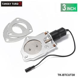 TANSKY - 3-дюймовый гоночный выхлопной вырез Электрический 3-дюймовый болт-болт Каждое высокое качество TK-BTCUT30 имеет в наличии