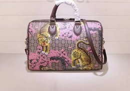 61b668d3a6f4 Newest style high quality fashion 35cm women brand genuine leather Animal  Print colourful handbags shoulder bag totes Cross Body free shippi