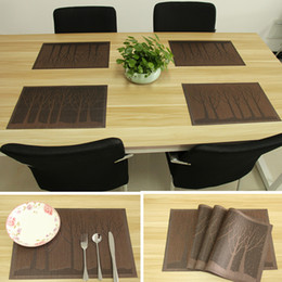 dining table mats pvc place mats for kitchen table washable table mats placemats for kids set of 4 4 pcs coffee tree - Kitchen Table Mats