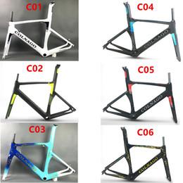 2017 цвет можно выбрать Colnago концепция дорожный велосипед углеродная рама полный углеродного волокна дорожный велосипед рама 48/50/52/54 / 56см T1000 углерода frameset