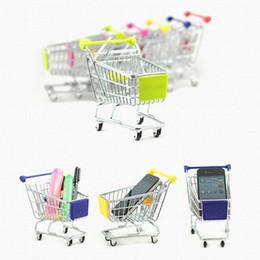 2017 Mini Supermercado Handcart Compras Utilitário Carrinho Modo Cesta De Armazenamento Cesta De Mesa Nova Coleção Livre DHL XL-T34