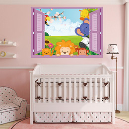 online shopping SK7019D children s bedroom window window fake nursery children s room can be removed from the background PVC cartoon stickers