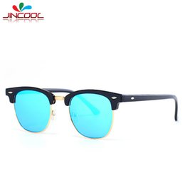 wholesale jincool half frame shades points 2016 club fashion sunglasses men women brand designer steampunk master sun glasses oculos 3016 cheap designer