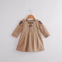 primavera nios nias bordadas vestidos florales beb vestido de moda de lino bebs corea vestido volante ropa para nios