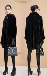 Шуба Женский Верхняя одежда Top Raccon собак норки с меховым воротником Длинная женщин 2016 бекеше Толстые Теплый размер S-6XL