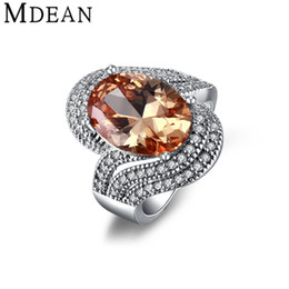 ring for mdean white gold color rings for women jewelry amber gem inlaid aaa zircon jewelry wedding women rings size amber wedding rings for sale - Wedding Rings On Sale