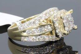 10k yellow gold 274 ct women real diamond engagement ring wedding ring bridal - Real Diamond Wedding Rings