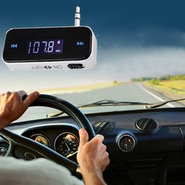 Transmisor del coche FM de 3.5mm para el dispositivo audio sin hilos libre del jugador del bluetooth del teléfono dispositivos Fm modulador Exhibición del LCD coche Accesorios