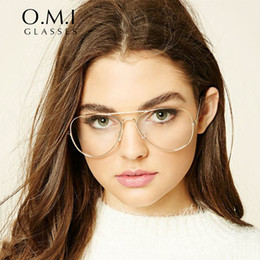 2017 oversized clear aviator glasses women ray 3025 transparent optical lens metal frame fake eyeglasses brand designer dropshipping om293