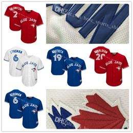 2017 brown baseball jerseys Men's Toronto Blue Jays Marcus Stroman 6# Troy Tulowitzki 2# Majestic Scarlet 2017 Cool Base Replica Player Embroidery Baseball Jerseys cheap brown baseball jerseys