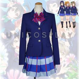 Girls School Uniform Japanese Anime Love Live Cosplay Costumes Halloween  Party Blazer Shirt Skirt Tie Full