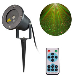 Discount landscape laser projector light Christmas Laser Lights Waterproof Red & Green Star Projector Landscape Spotlights for Holiday Outdoor Garden Yard Wall Decoration