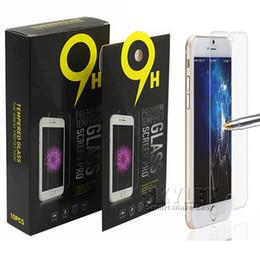 Pour iPhone 7 LG Stylo 3 Protecteur d'écran en verre trempé pour Iphone 6 Galaxy ON5 Film LG Aristo V3 0.33mm 2.5D 9H Anti-shatter Paper Package