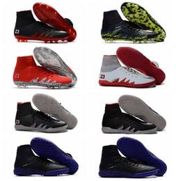 Wholesale 2017 Dark Lighting Hypervenom Phantom JR II FG Chaussures de football Neymar Chaussures de football pour hommes HypervenomX Proximo IC TF Chaussures de soccer intérieur