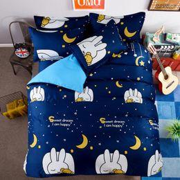 modern carton cotton 4 bedding set duvet cover sets bed sheet adults kids bedroom sets queen twin size free shipping - Twin Bedroom Sets For Adults