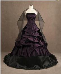 Purple Gothic Wedding Dresses Online | Purple Black Gothic Wedding ...