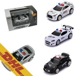 40pcs lot mini fire pot rc racing car police cars led light music roadblock 4ch radio remote control vehicle toys for kids