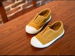 Wholesale Zapatos de los niños Zapatos de lona del muchacho del niño del niño de los zapatos de las muchachas de la manera de los cabritos del resorte de las zapatillas de deporte del niño Tamaño