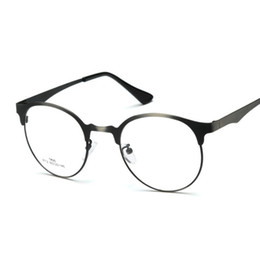 eye glasses frame alloy style unisex hipster vintage retro classic half frame glasses clear lens nerd eye wear gls001