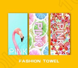 2017 Hot Pink Bath Beach Towel 35 75cm 22 Styles Brand Designer Leopard Plage Bathroom Towels Mat Drying Washcloth Swimwear Shower